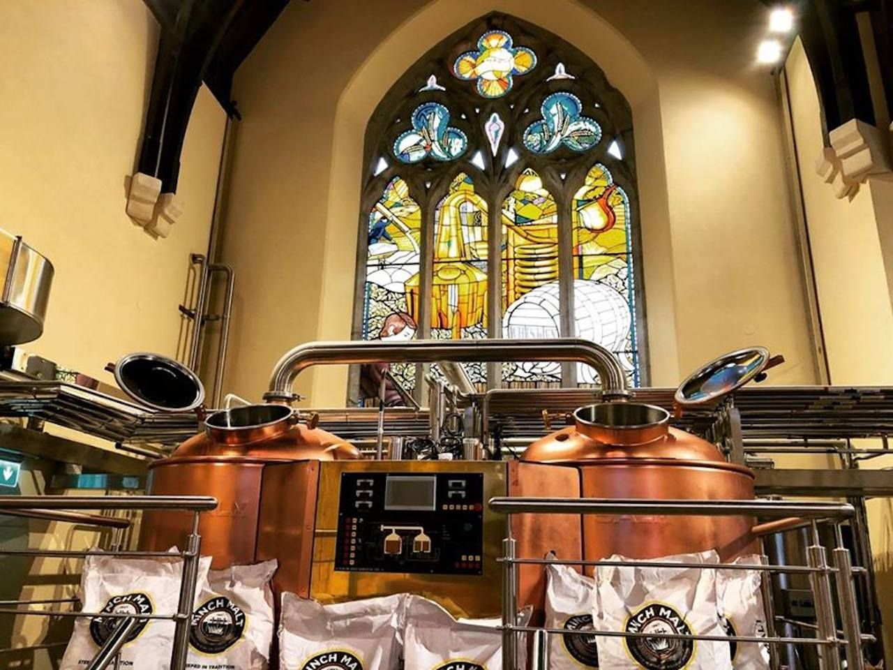 Machinery at the Pearse Lyons Distillery in Ireland
