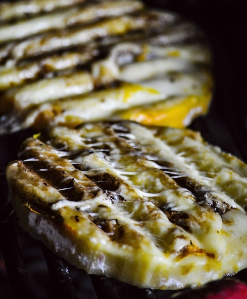 Provoleta, grilled provolone cheese, from Argentina