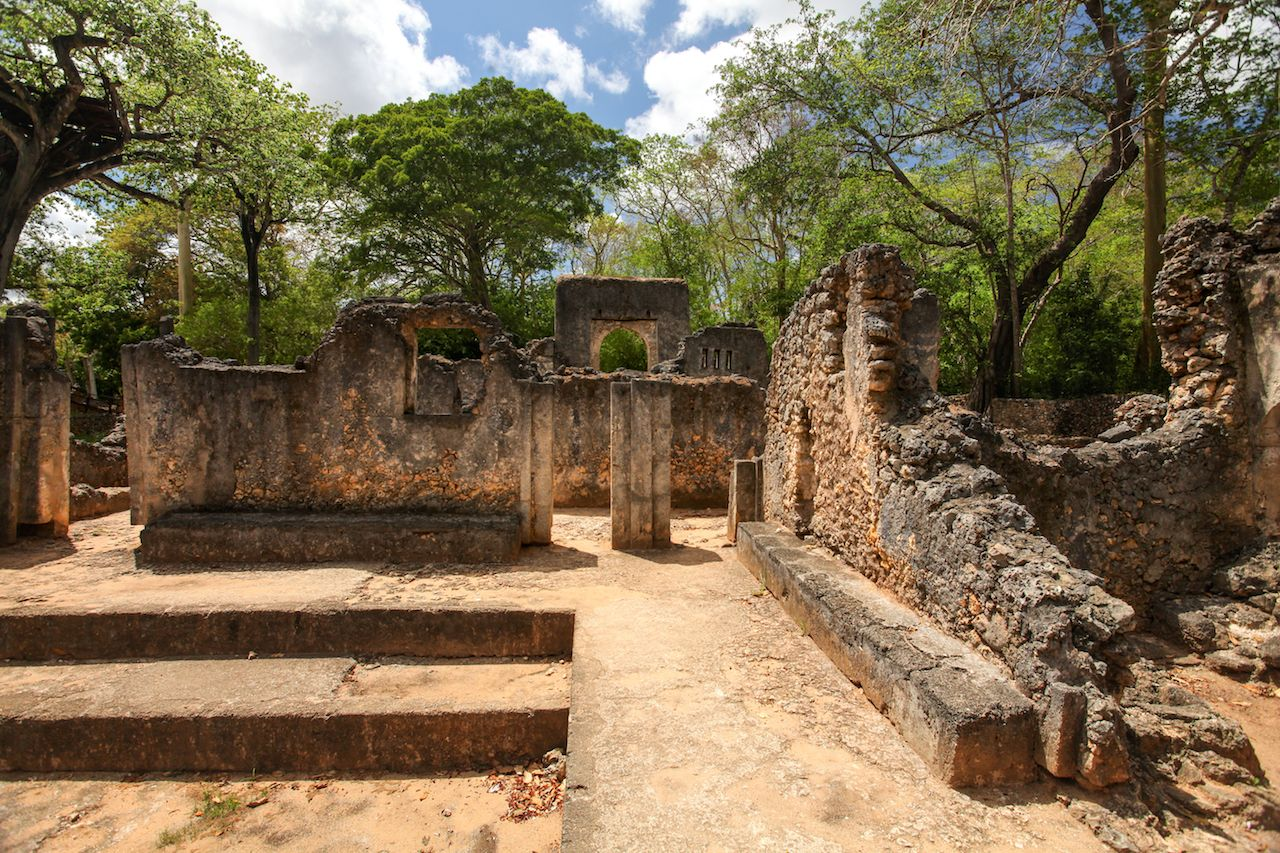 Remains of ancient african city Gede in Watamu, Kenya