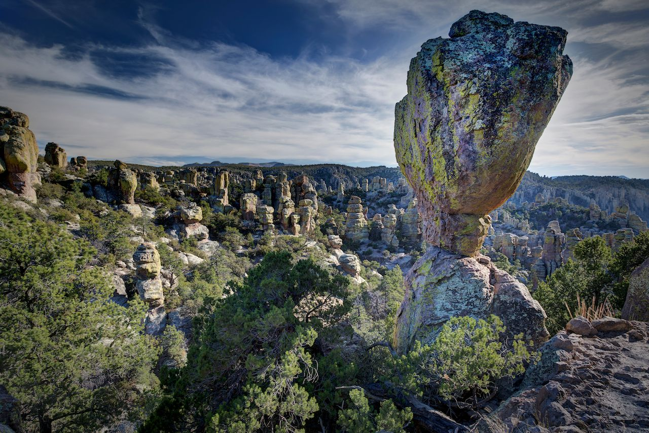 Rock formation and hoodoos at Chiricahua National Monument, Arizona