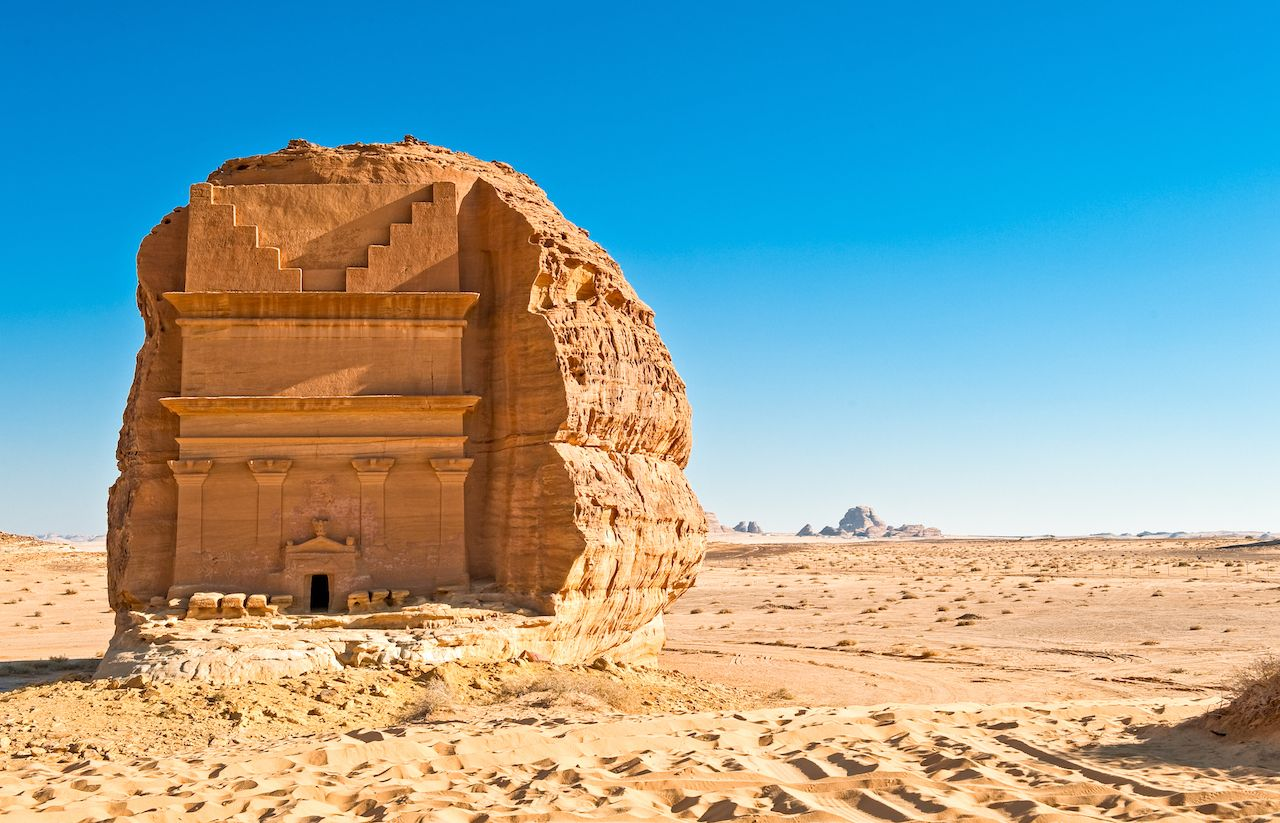 Saudi Arabia, Madain Saleh, the archaeological site with the Nabatean tomb of the 1st century 2