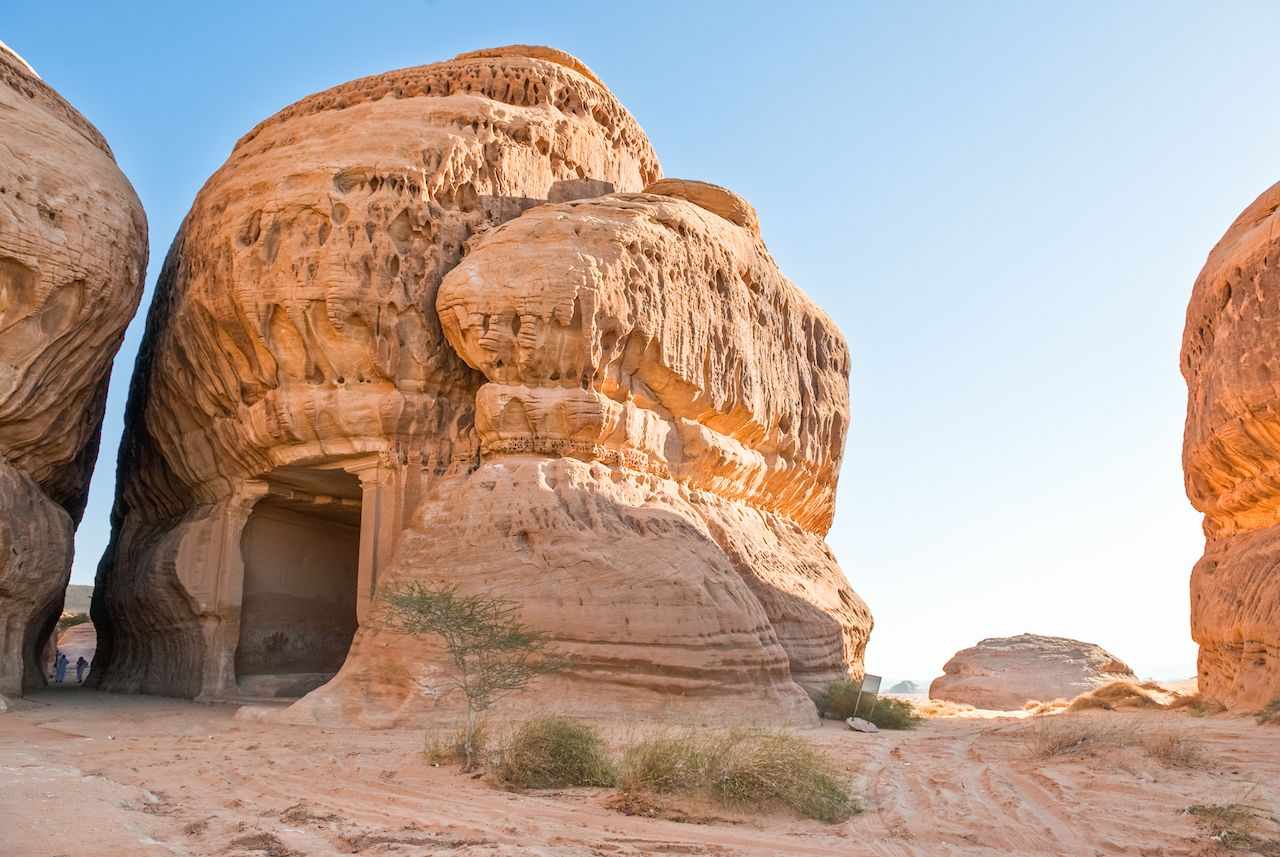 Saudi Arabia, Madain Saleh, the archaeological site with the Nabatean tomb of the 1st century
