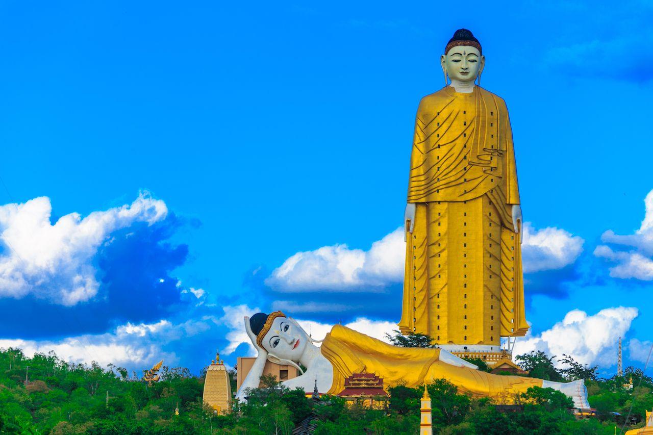 Standing Buddha in Myanmar