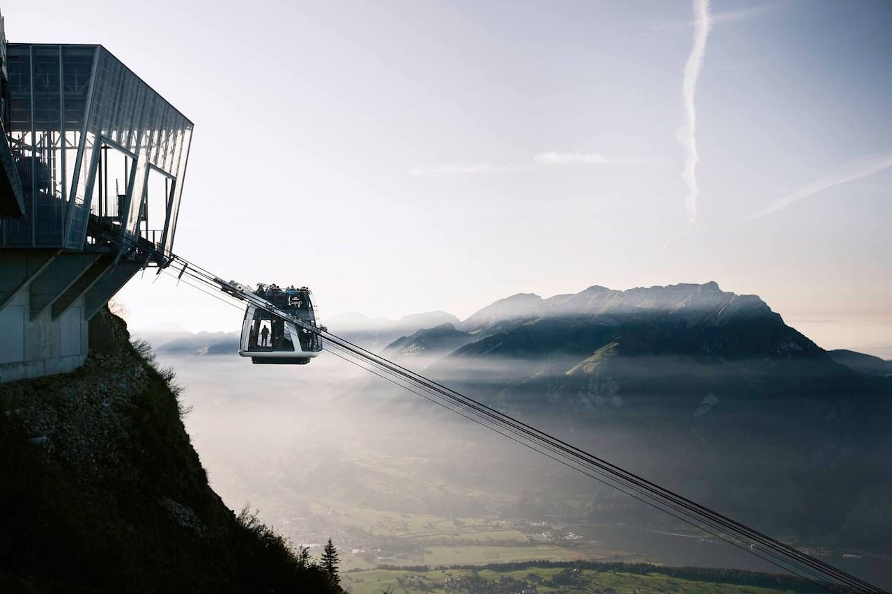 Stanserhorn CabriO cable car in Switzerland