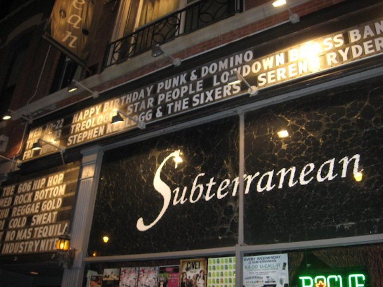 Front of the Subterranean music venue in Chicago