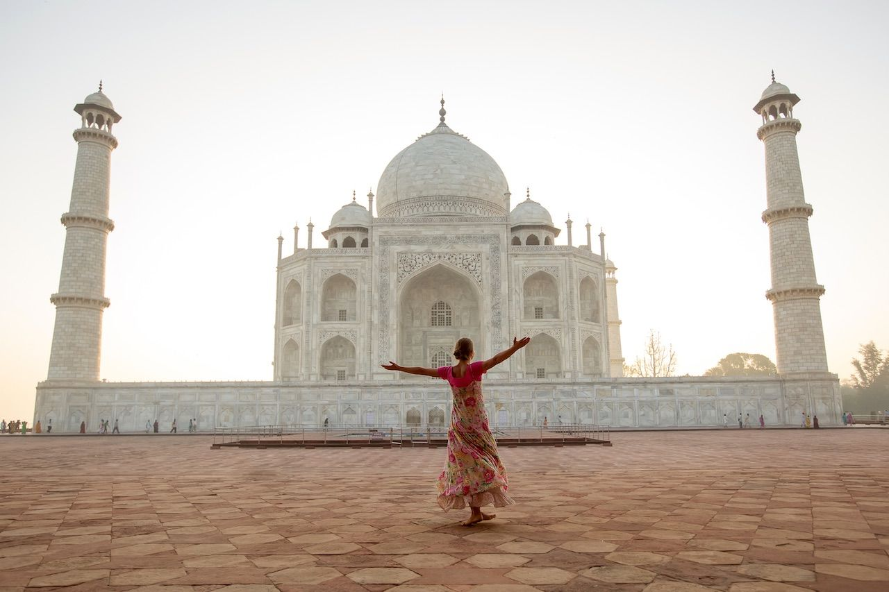 Taj Mahal India sunrise