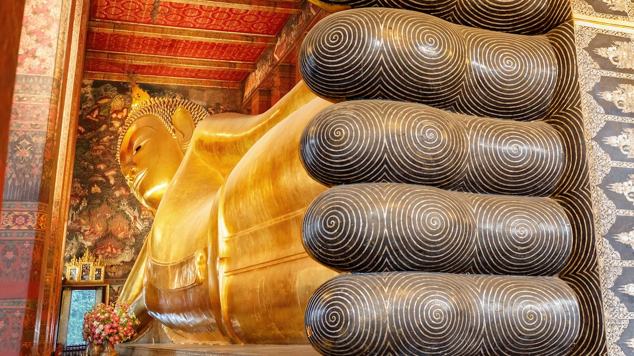 The Reclining Buddha at Wat Pho in Bangkok