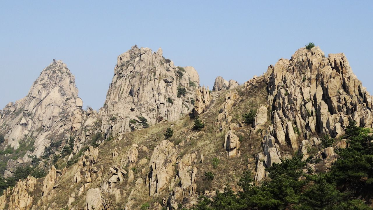 The top of Fushan Mountain in Qingdao, China