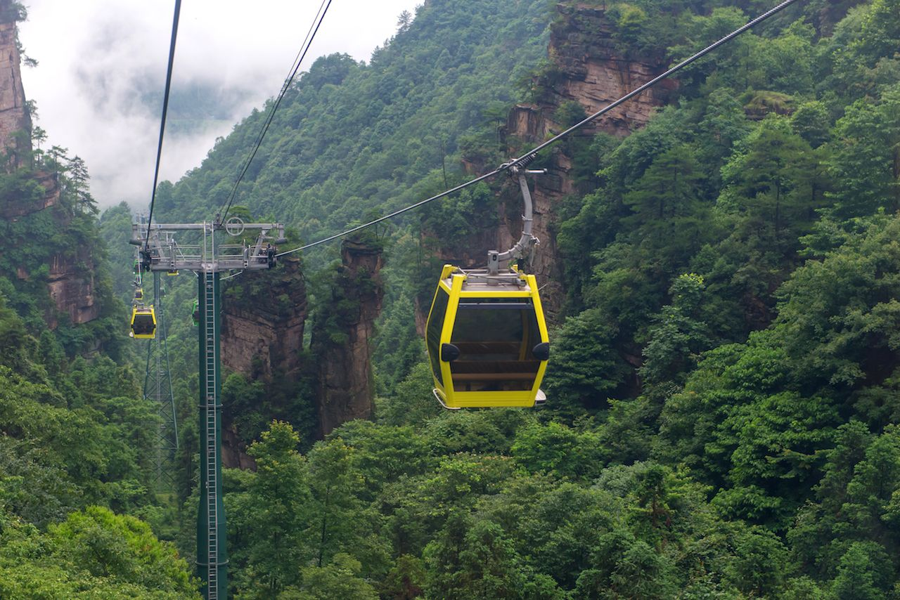 Tianmen Mountain Cableway in China