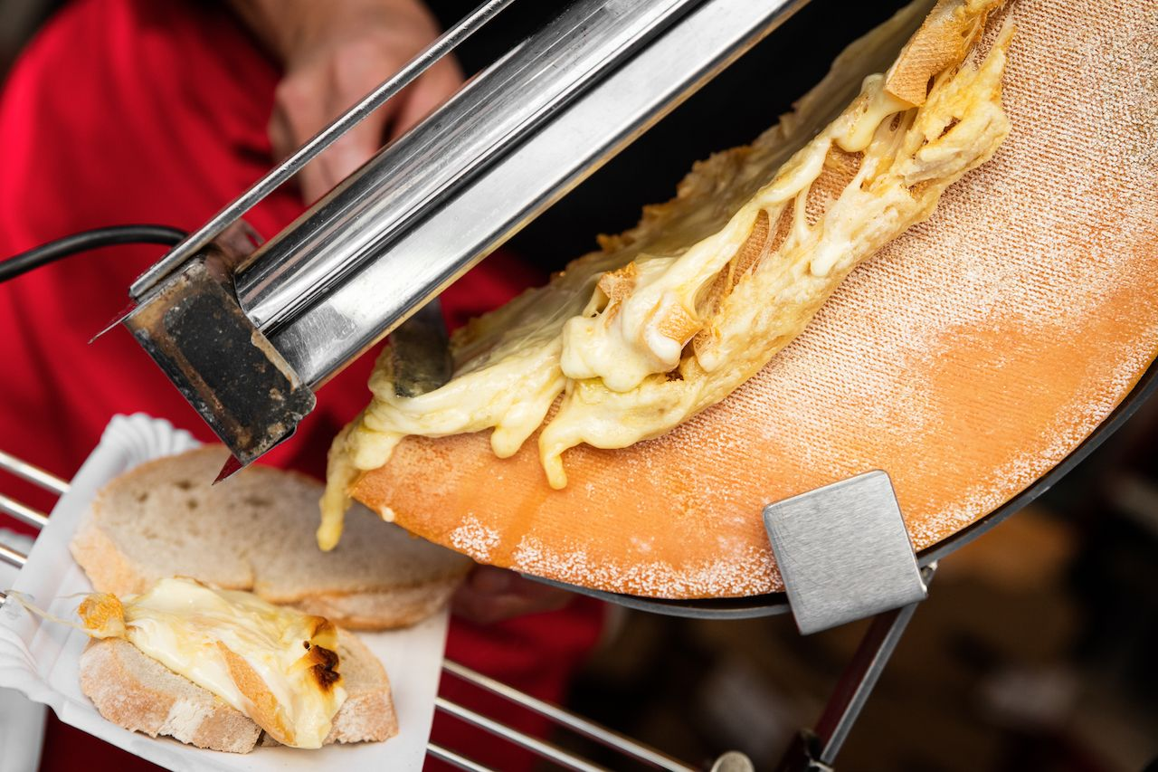 Traditional raclette from France