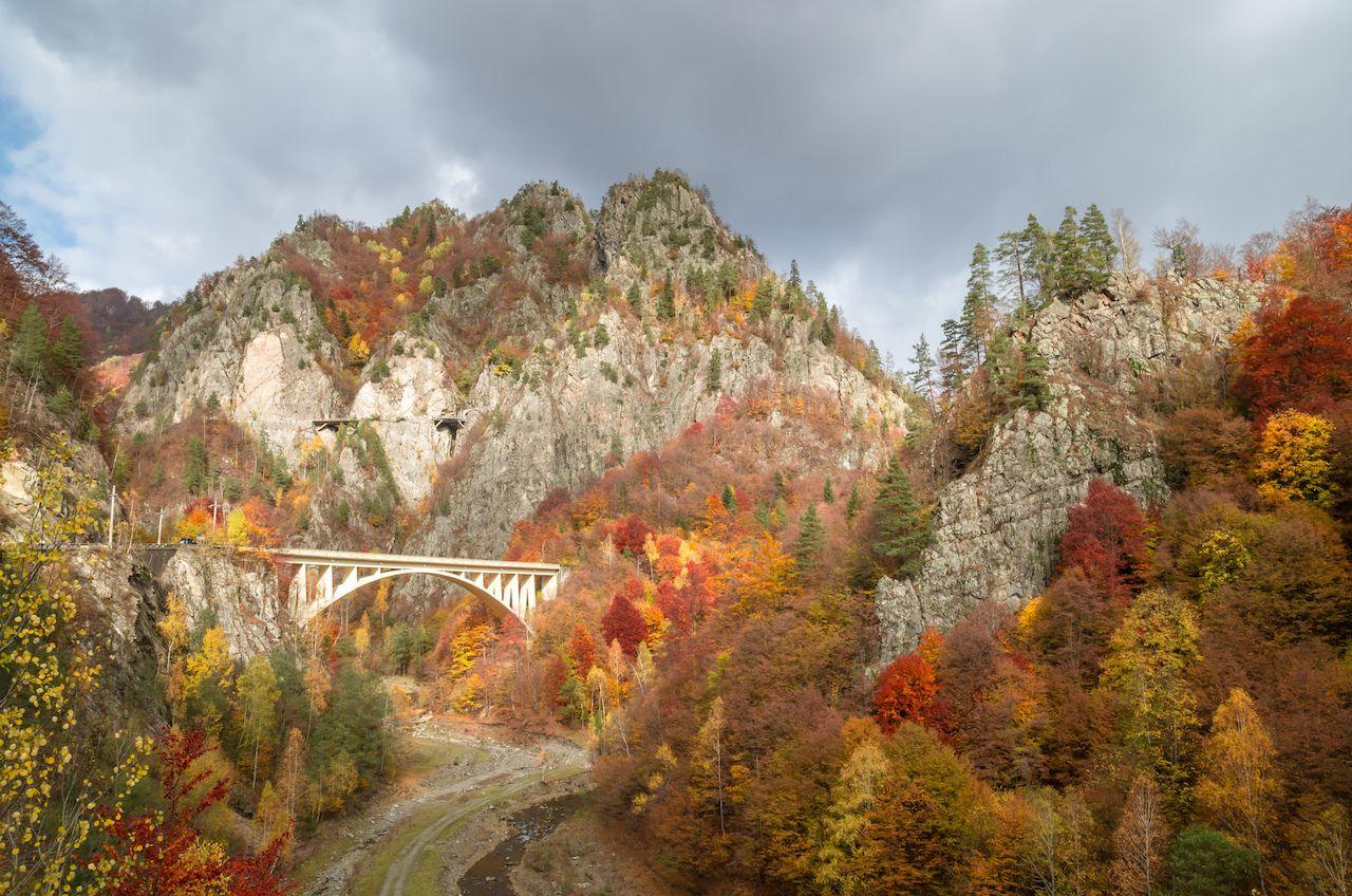 Transfagarasan road, Romania, in fall
