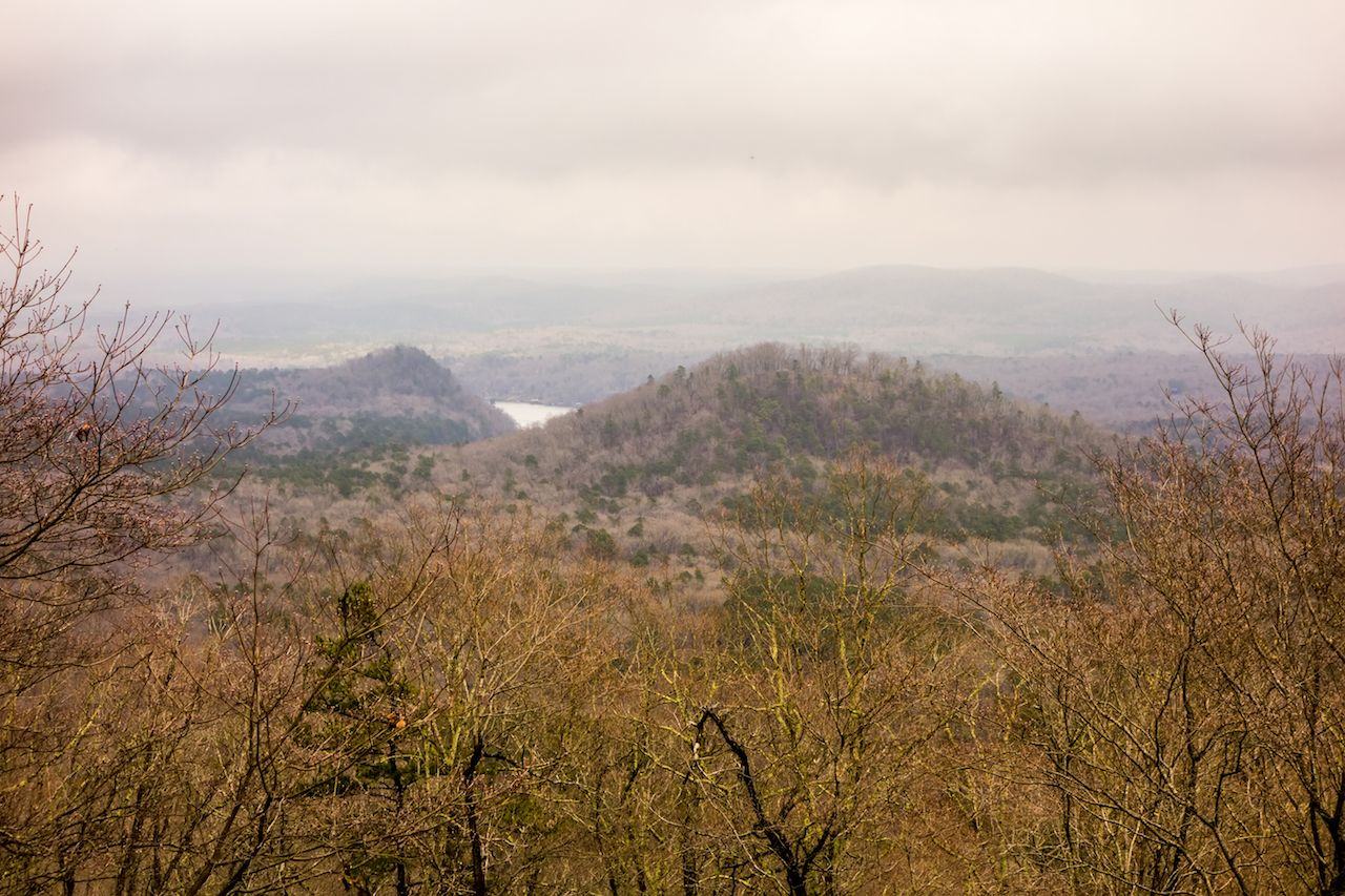 Uwharrie Mountain range in North Carolina