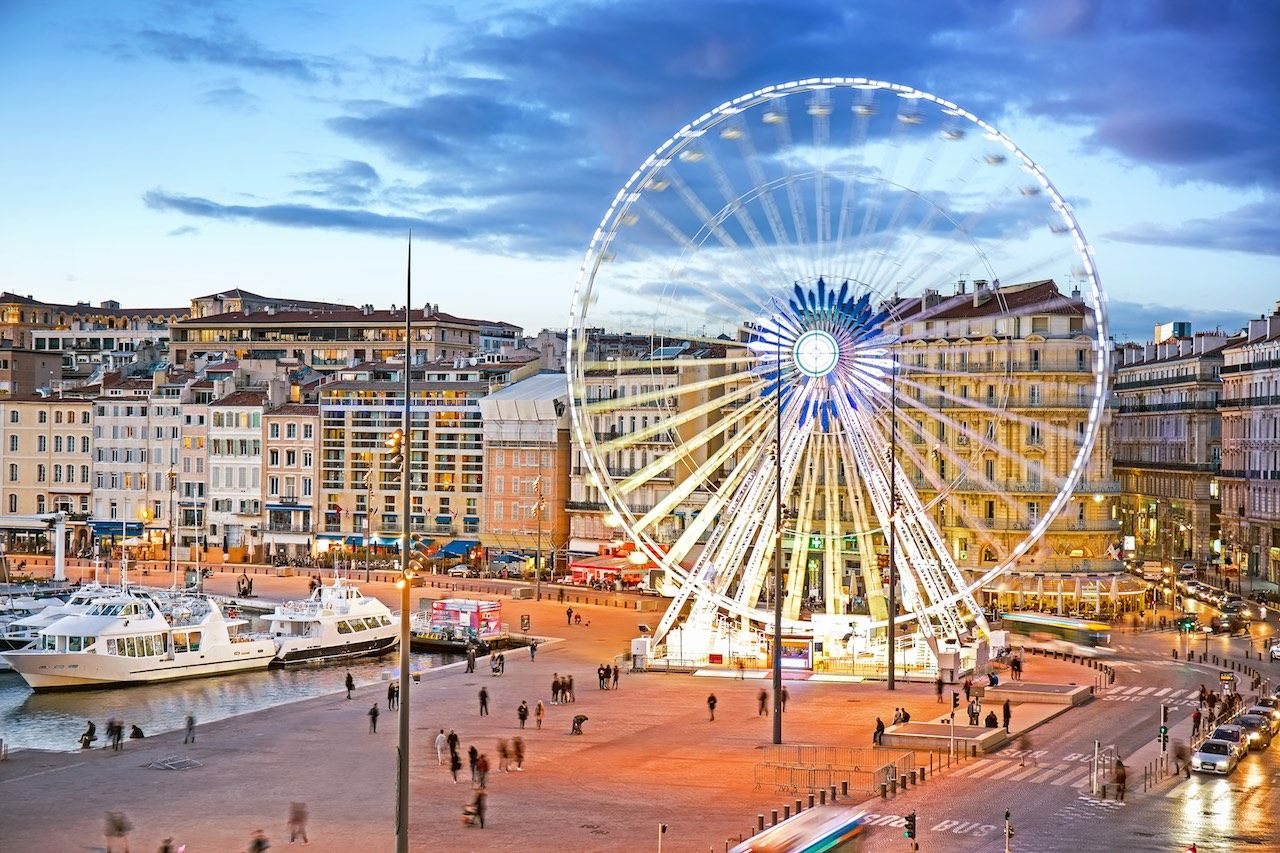 Vieux Port Marseille France Ferris wheel