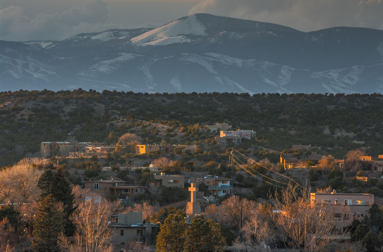 View of Santa Fe, New Mexico, USA