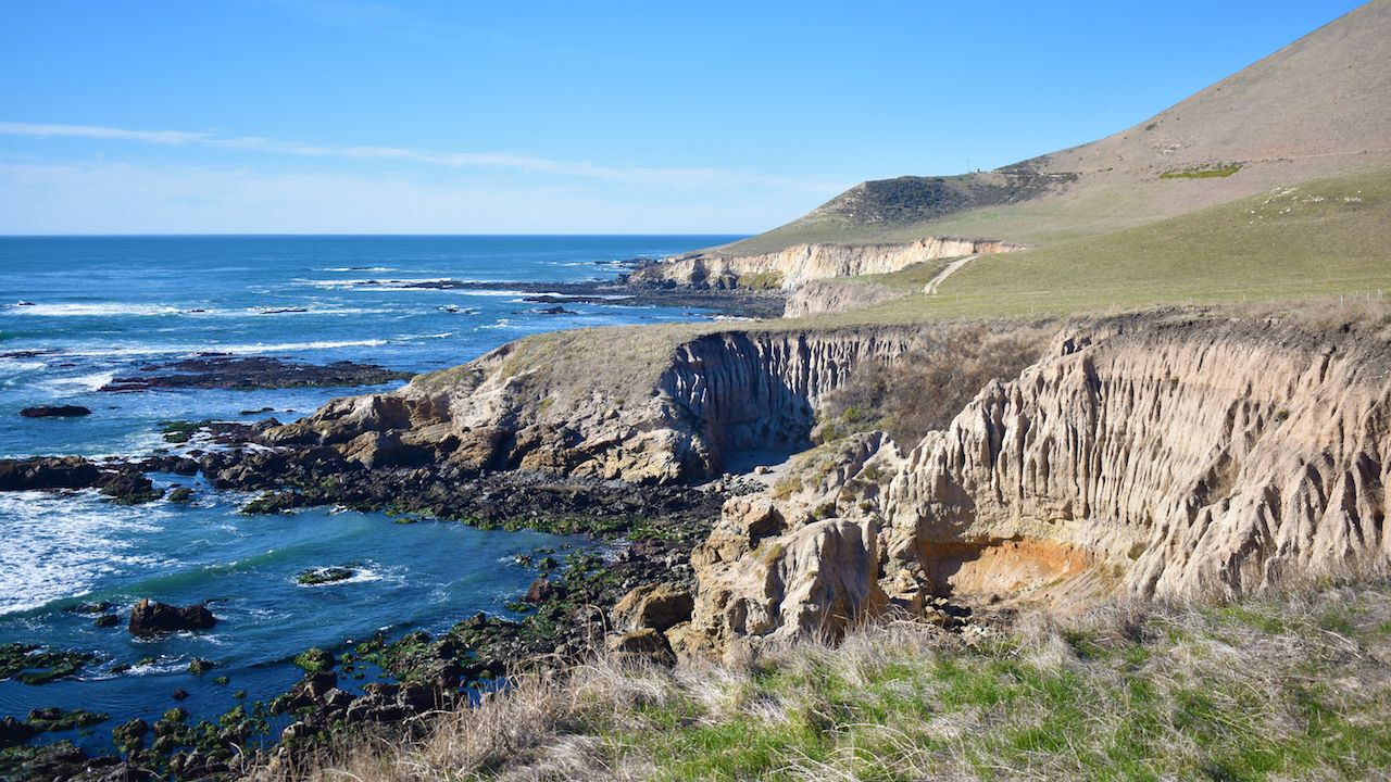 View of the beaches of the California central coast