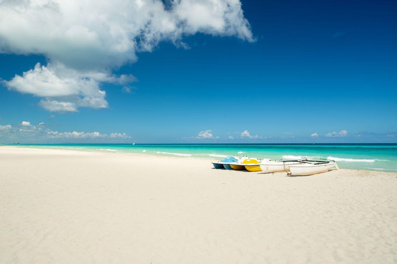 White-sand beach in Varadero, Cuba