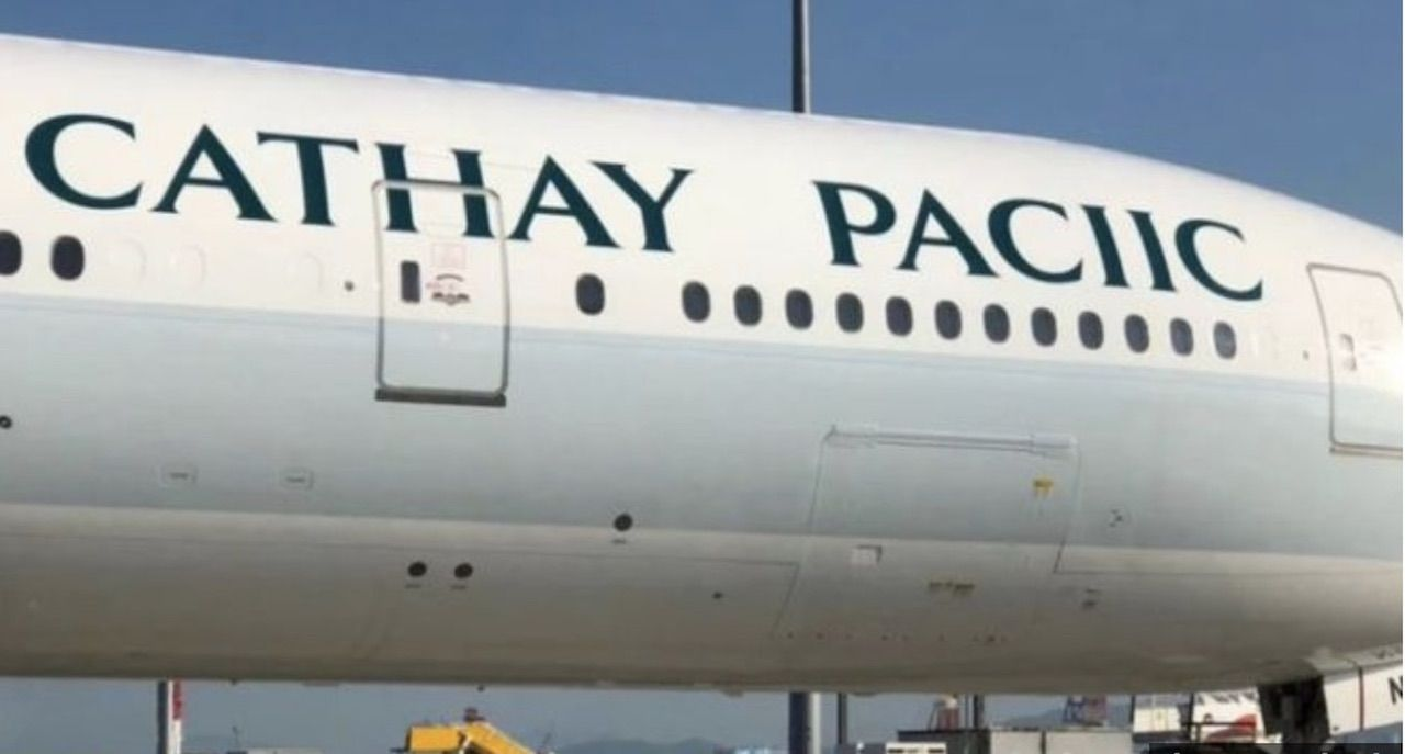 Cathay Pacific mispells its own name