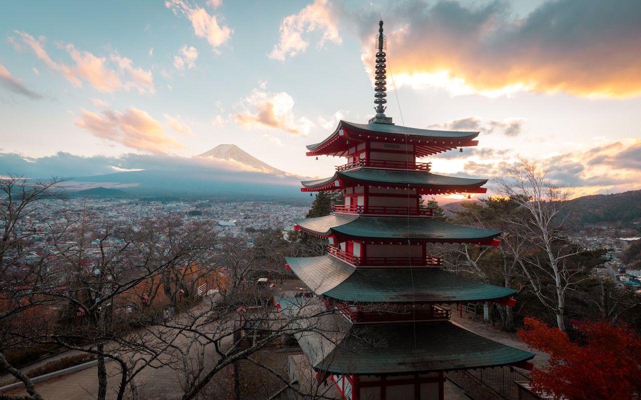Chureito Pagoda in Japan