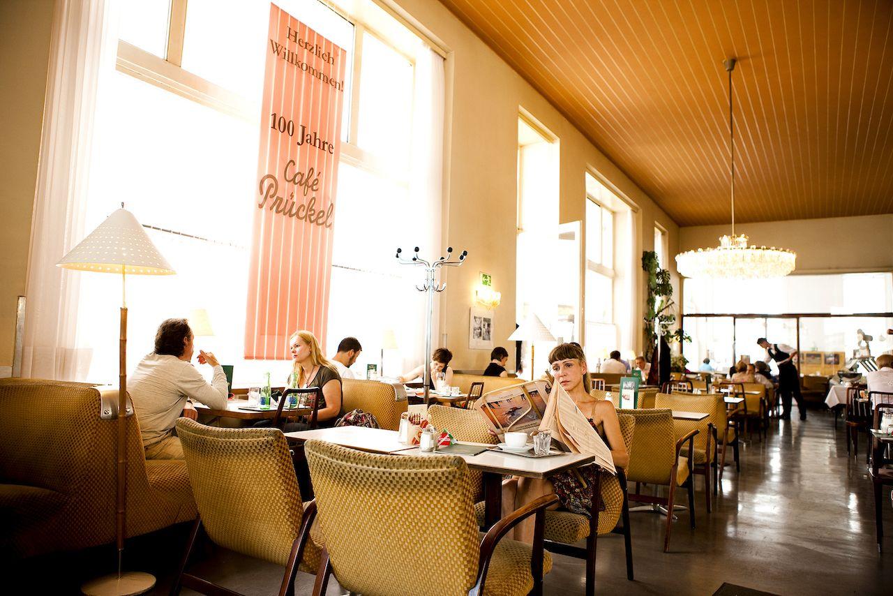 Inside Cafe Pruckel in Vienna