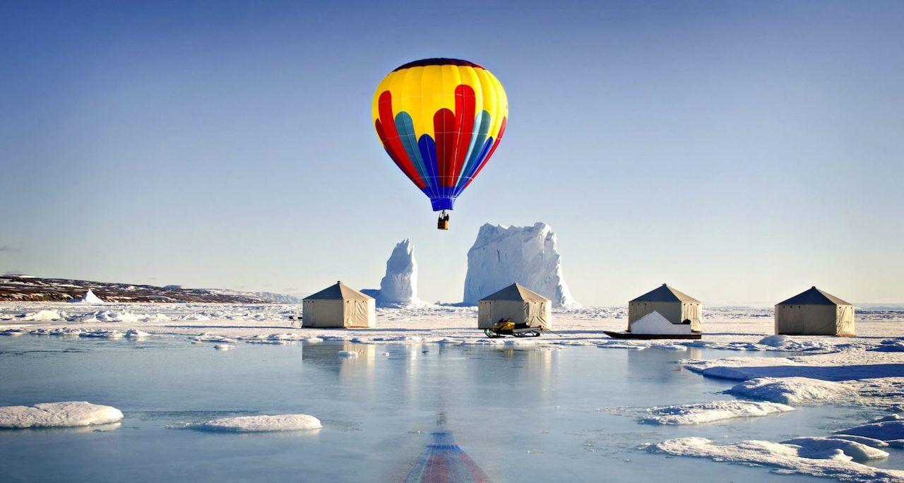 Hot air balloon in Nunavut