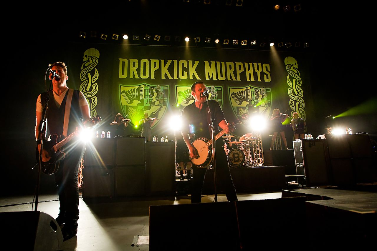 Boston punk rock band The Dropkick Murphys perform on stage at the Paramount Theater in Seattle