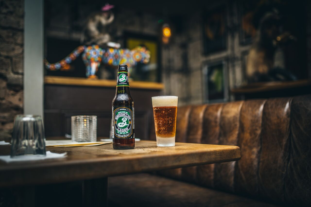 Brooklyn Brewery Brooklyn Lager on a table