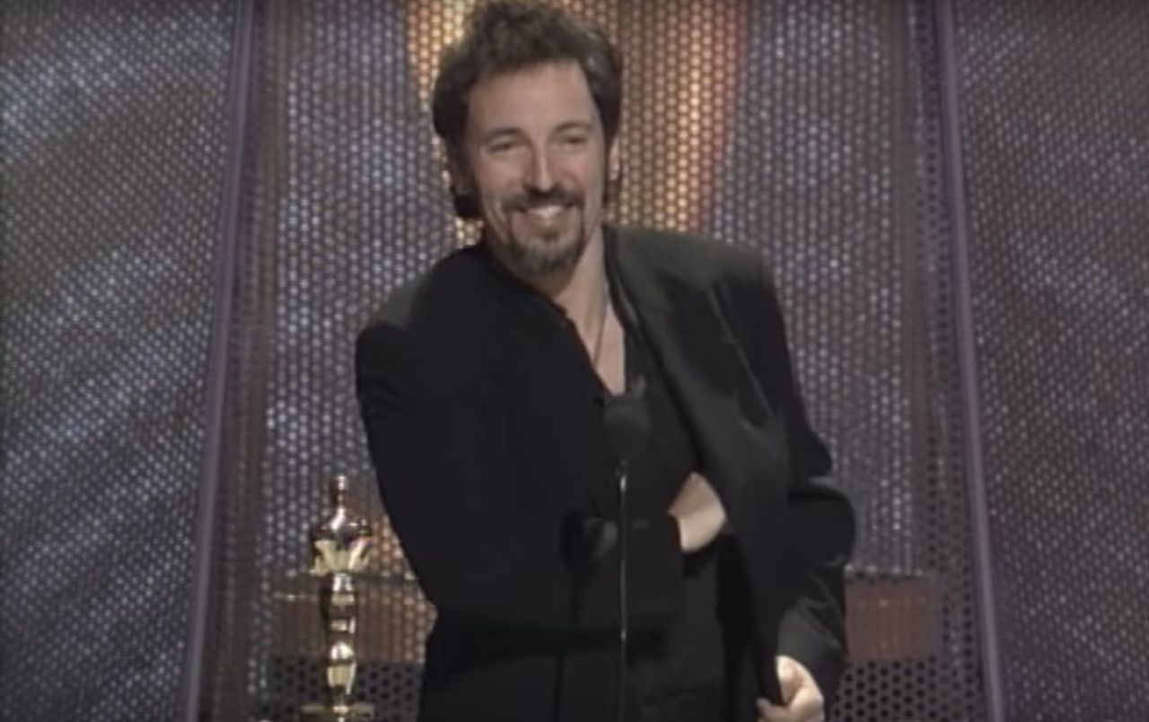 Bruce Springsteen winning an Oscar