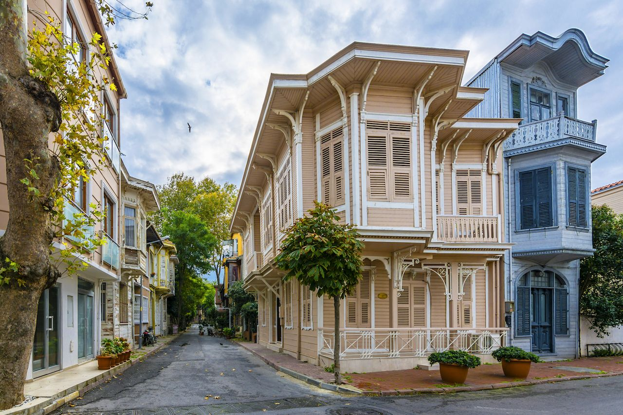 Buyukada Island street view just off Istanbul