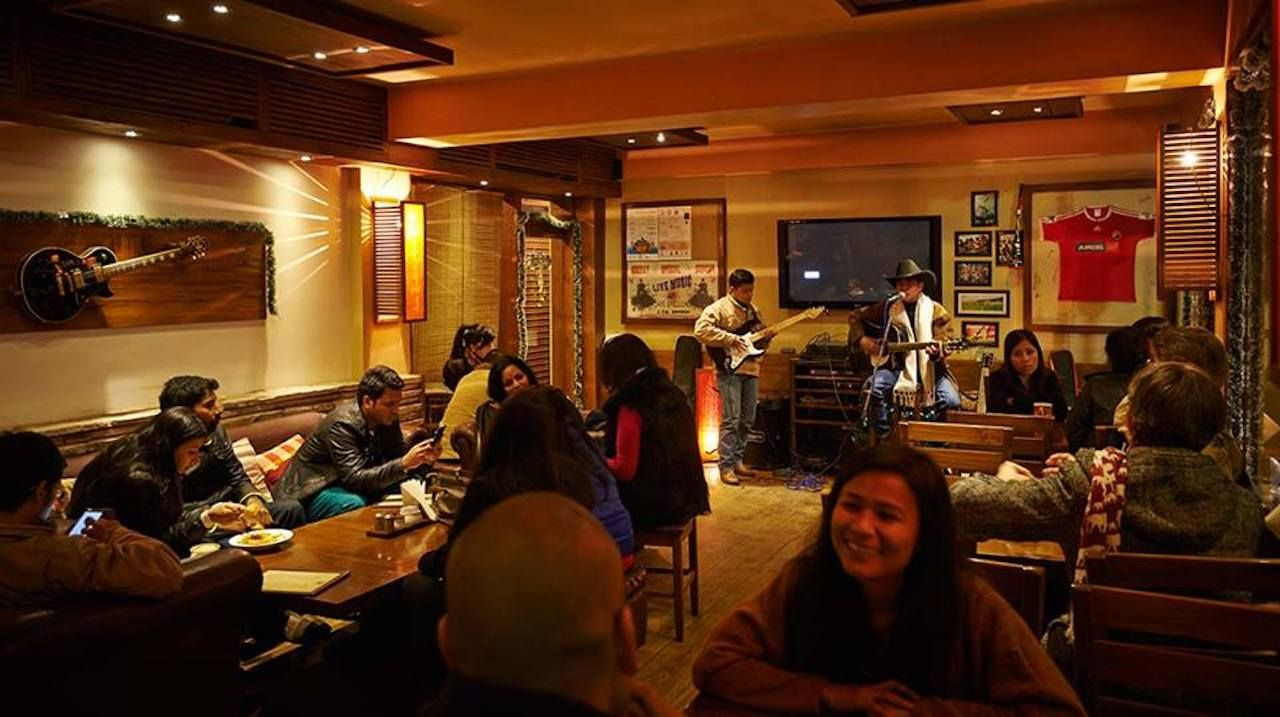 Inside Café Shillong in India