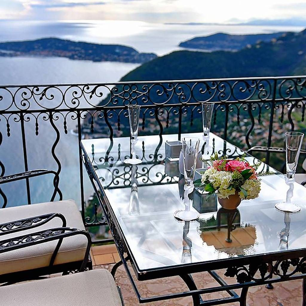 Chateau Eza balcony view over Eze, France