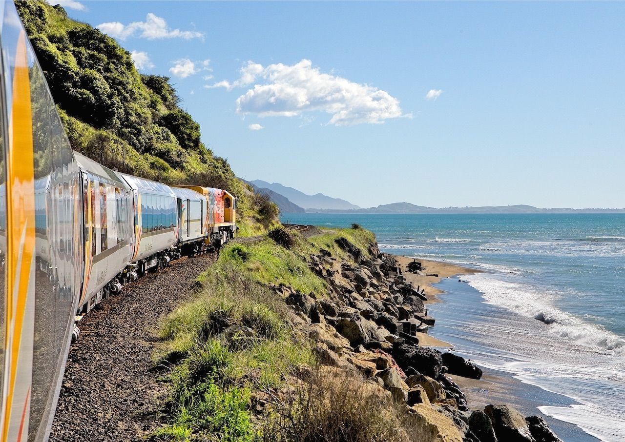 Coastal Pacific Railway in NZ