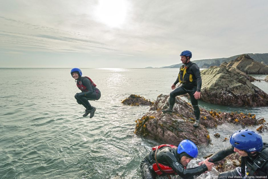 Coasteering Visit Britain Wales