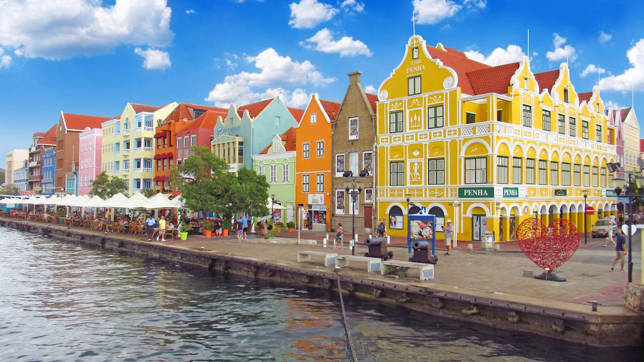 Colorful waterfront buildings in Willemstad, Curacao