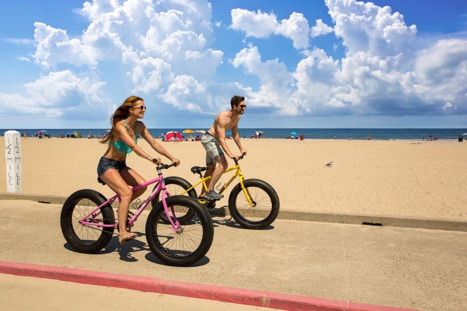 Couple Biking South Padre Island Texas