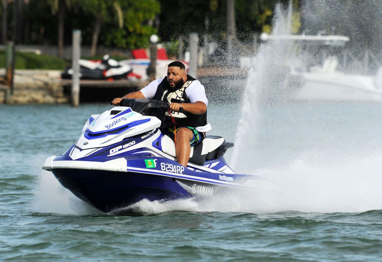 DJ Khaled on a jet ski in Miami