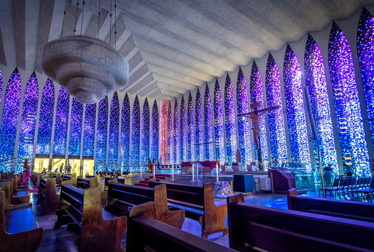 Dom Bosco Sanctuary Interior in Brazil