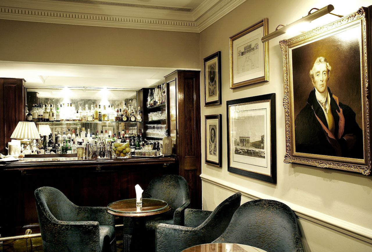 Interior of Dukes Bar in London