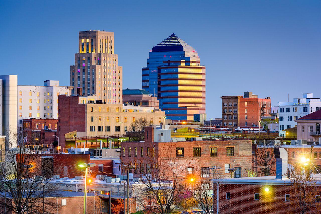 Duram, North Carolina, downtown view