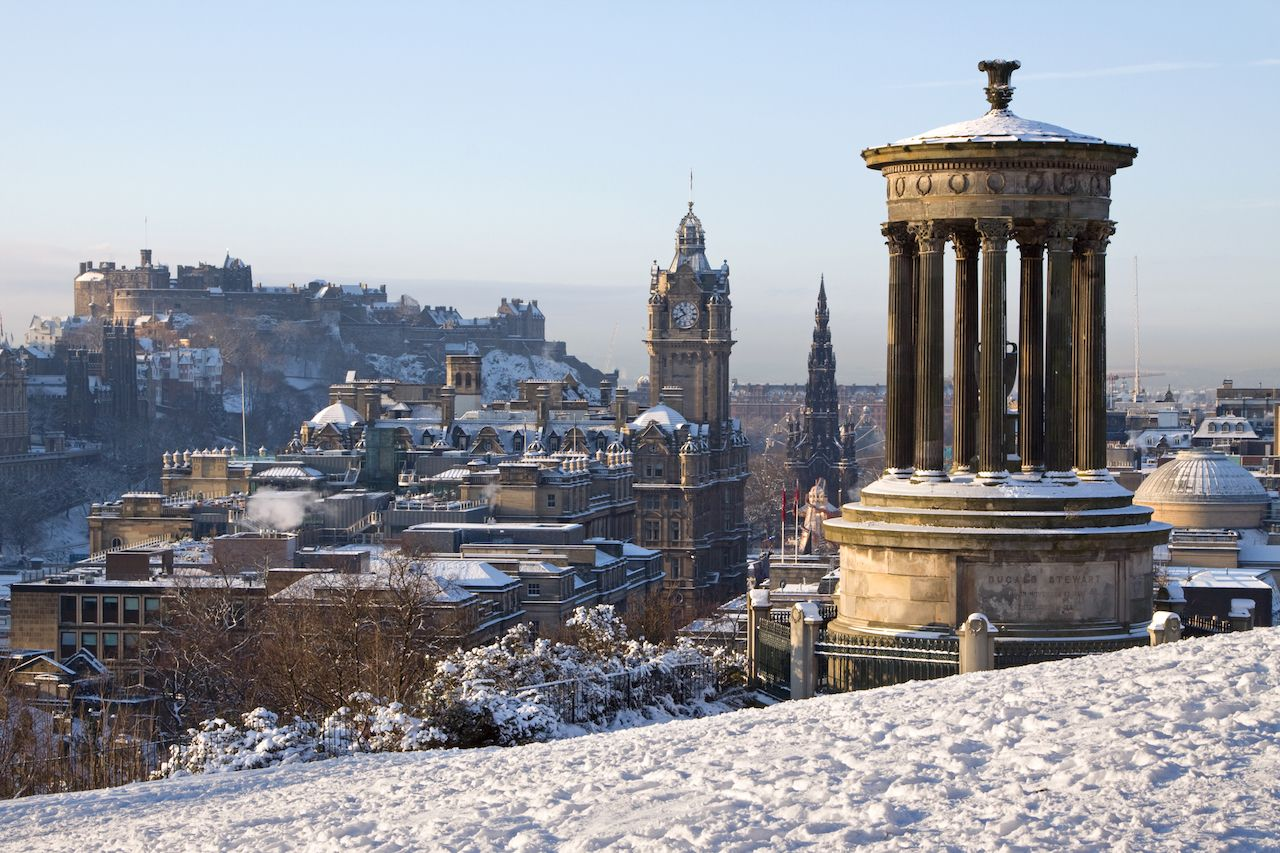 Edinburgh City and Castle in Scotland