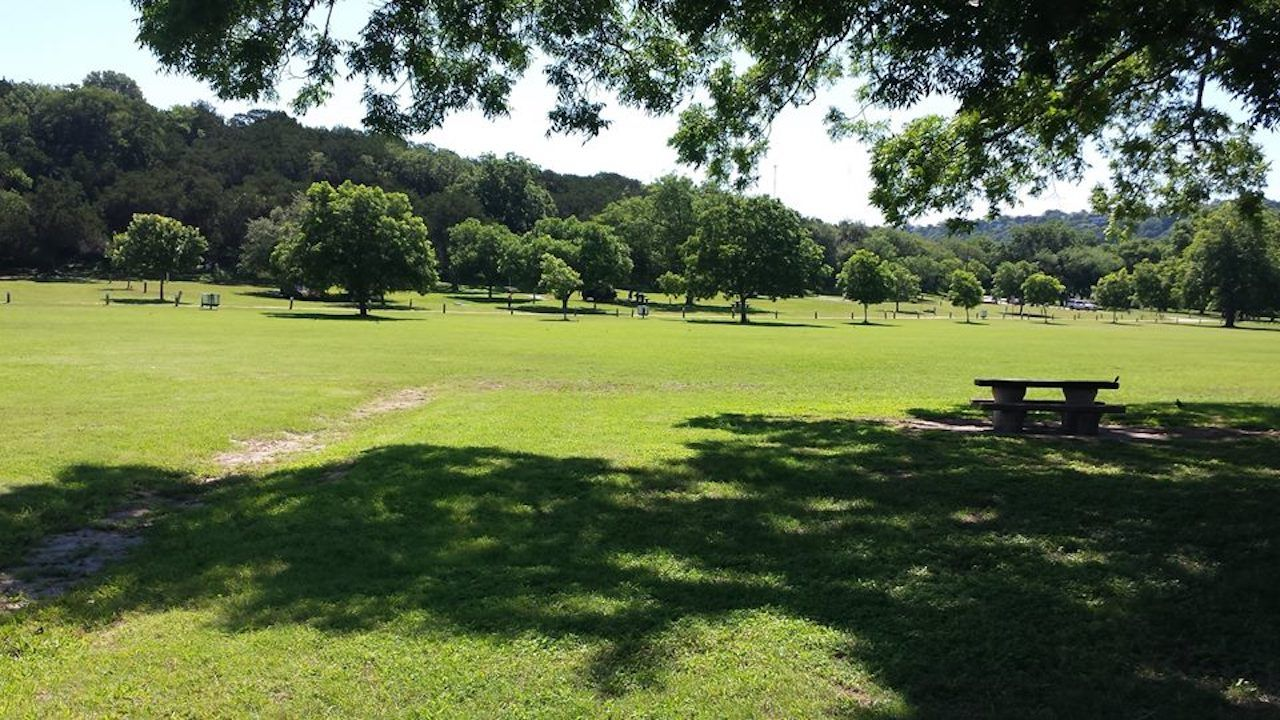 Green space in Emma Long Metropolitan Park in Austin, Texas