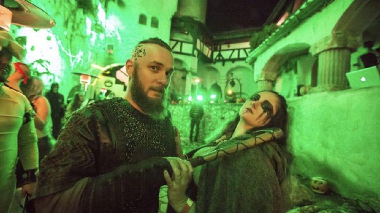 Halloween festivities at Bran Castle in Transylvania