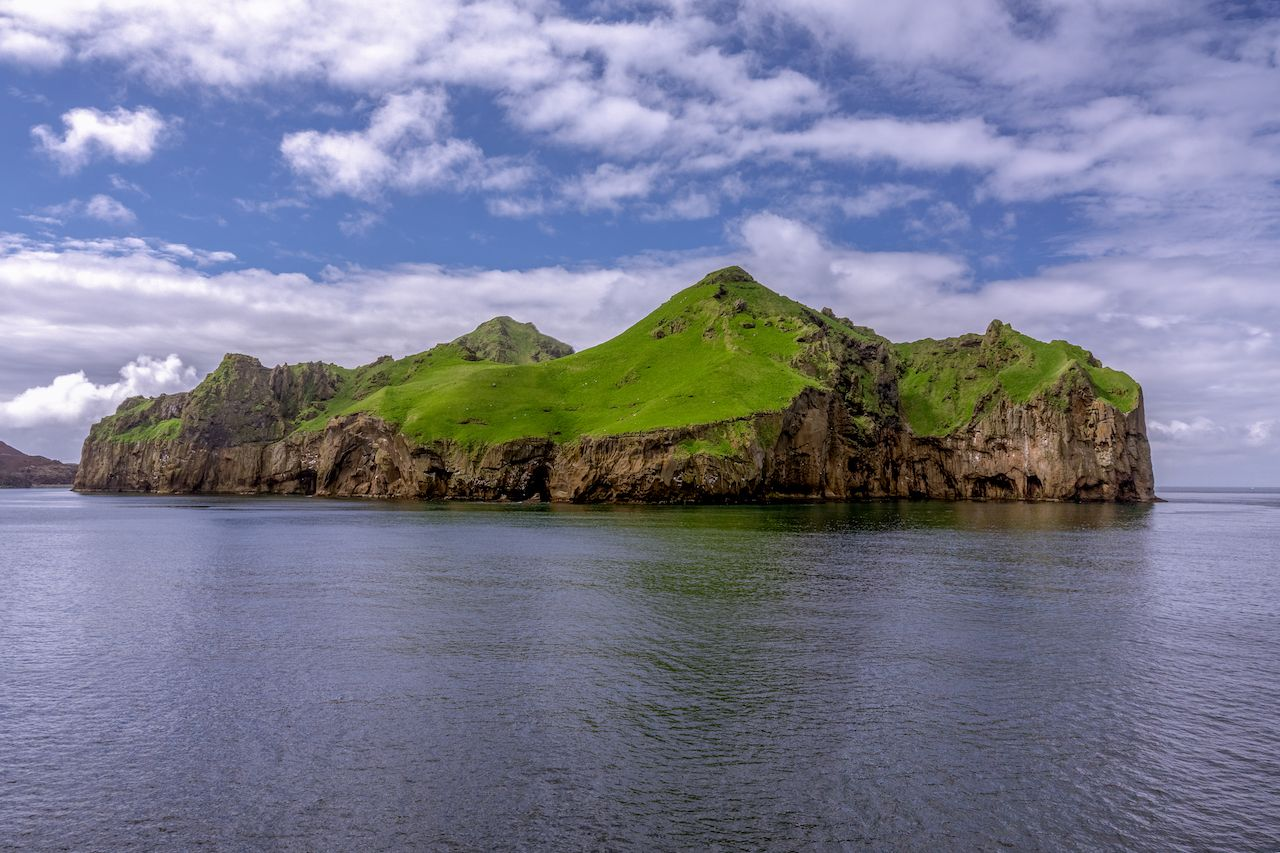 Heimaey, the largest of the westman islands in Iceland