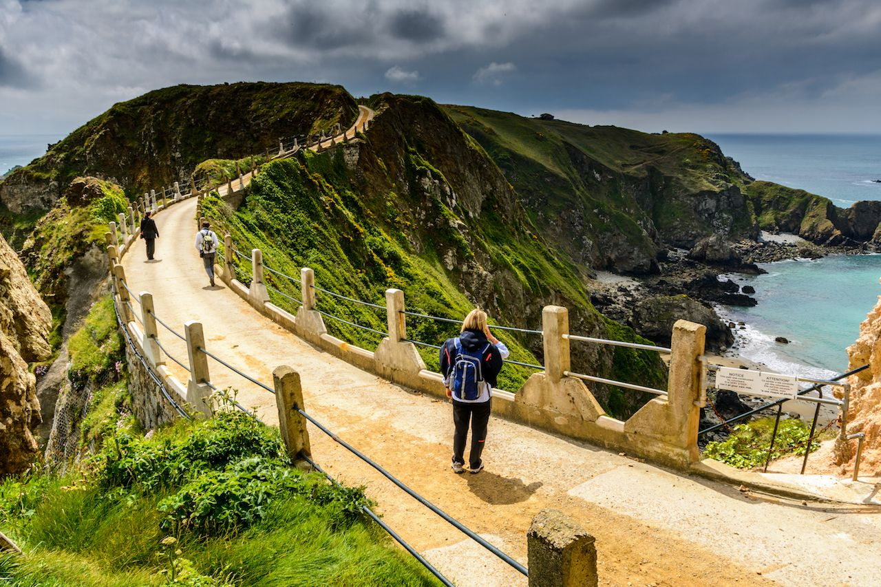 Hiking on Sark Island, UK