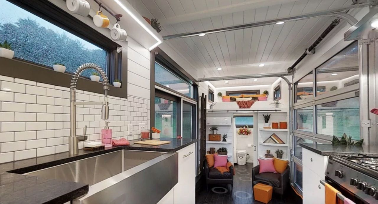 Inside Dunkin Donuts tiny house