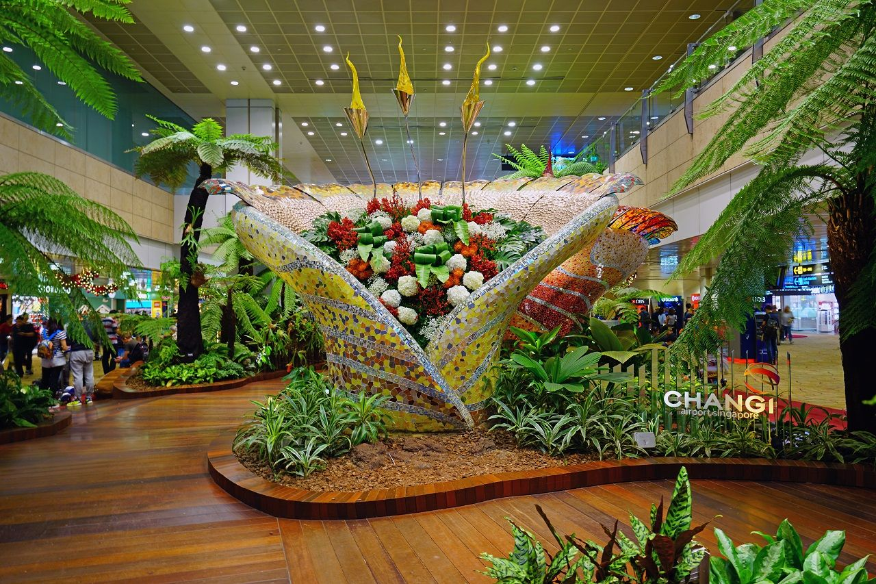 Interior view of Singapore Changi Airport