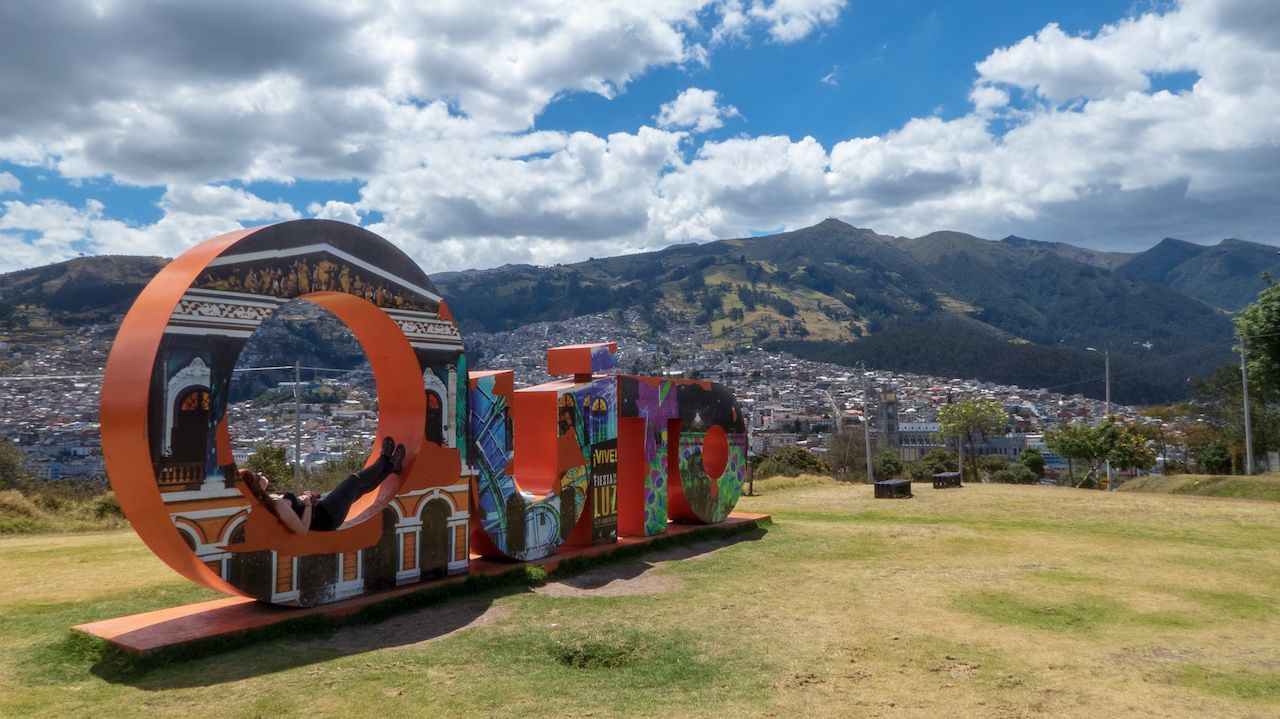 Itchimbia Park in Quito, Ecuador