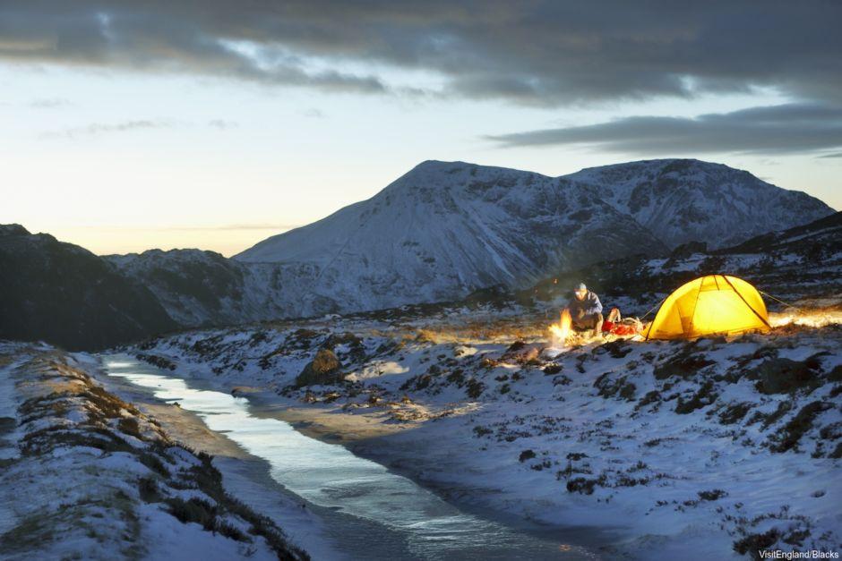 Lake District Visit Britain winter camping