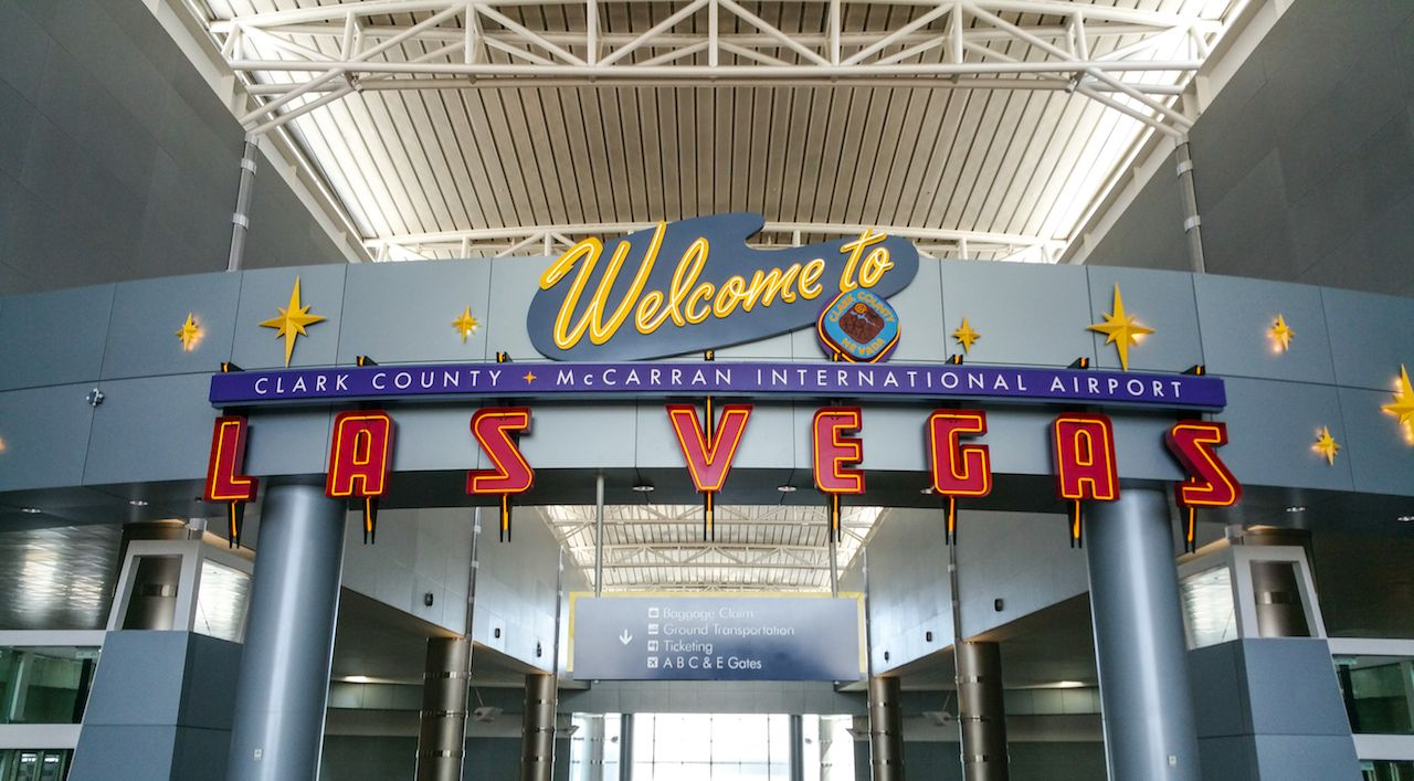 Las Vegas McCarran International Airport welcome sign