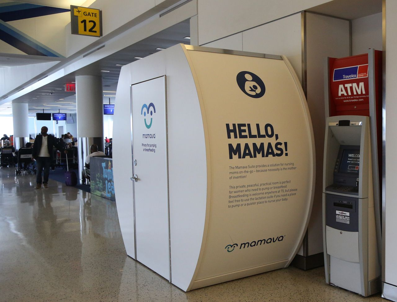 Mamava Suite is a place for women to pump or breastfeed inside of JetBlue Terminal 5 at John F Kennedy International Airport in New York
