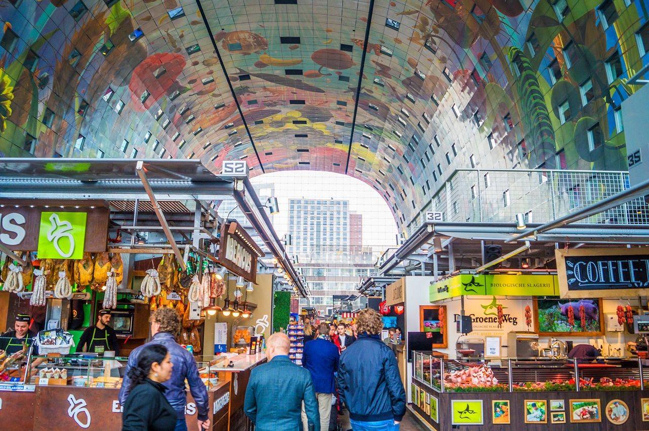 Markthal in Rotterdam, Netherlands